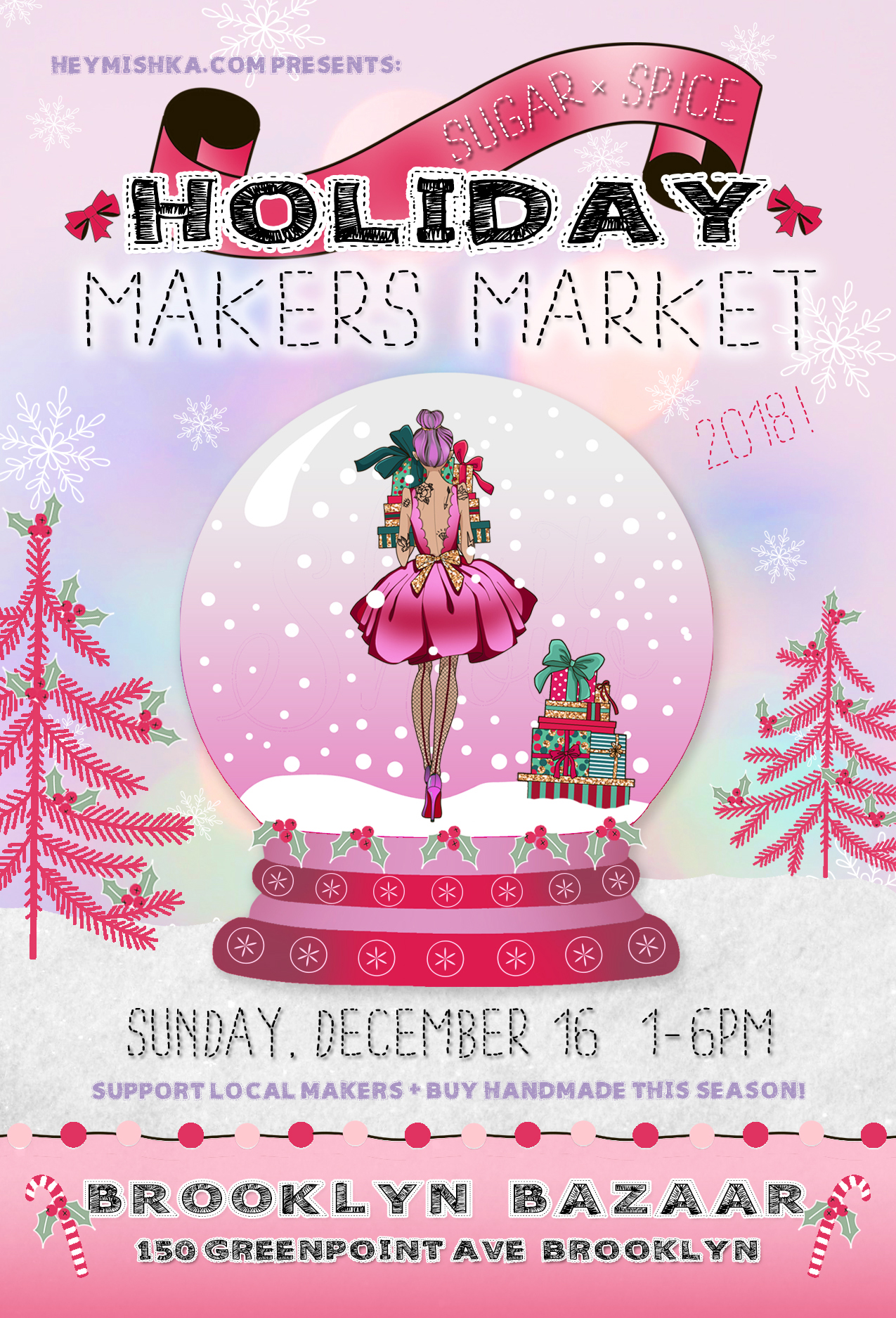Sugar x Spice Maker's Market - Brooklyn Holiday Market 2018 - vendors wanted